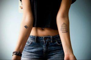 фото тату птица в клетке 02.01.2019 №072 -bird cage tattoo- tattoo-photo.ru