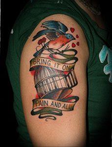 фото тату птица в клетке 02.01.2019 №085 -bird cage tattoo- tattoo-photo.ru
