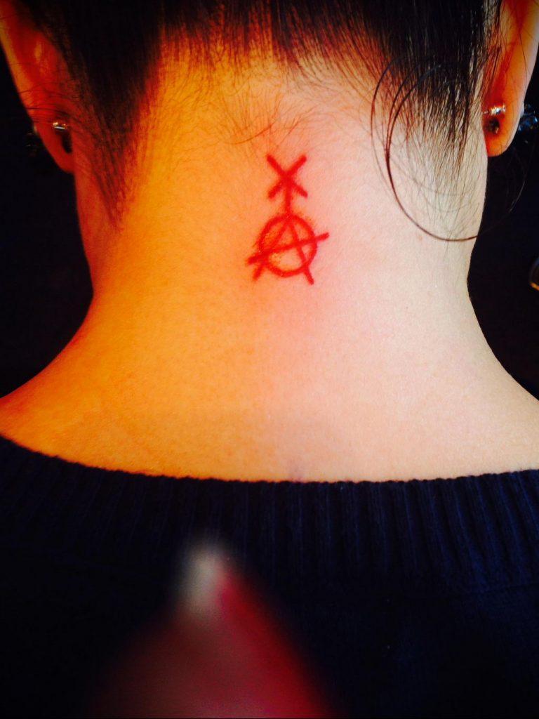 Фоторисунка татуировки анархия 24.03.2020 №042 -tattoo anarchy- tattoo-photo.ru