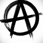 Фото знак анархии тату 24.03.2020 №001 -tattoo anarchy- tattoo-photo.ru