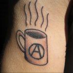 Фото знак анархии тату 24.03.2020 №009 -tattoo anarchy- tattoo-photo.ru