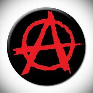 Фото знак анархии тату 24.03.2020 №027 -tattoo anarchy- tattoo-photo.ru