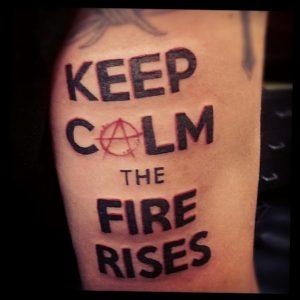 Фото знак анархии тату 24.03.2020 №037 -tattoo anarchy- tattoo-photo.ru
