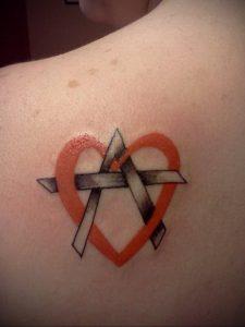 Фото знак анархии тату 24.03.2020 №039 -tattoo anarchy- tattoo-photo.ru
