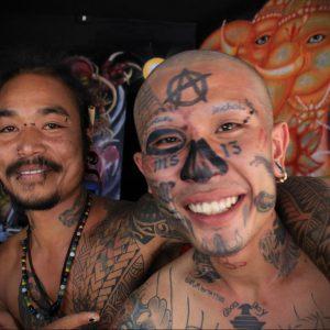 Фото знак анархии тату 24.03.2020 №047 -tattoo anarchy- tattoo-photo.ru