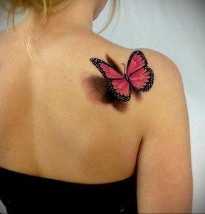 Фото маленькой тату на лопатке 09.03.2020 №012 -tattoo on the shoulder- tattoo-photo.ru
