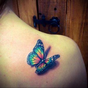Фото маленькой тату на лопатке 09.03.2020 №013 -tattoo on the shoulder- tattoo-photo.ru