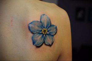 Фото маленькой тату на лопатке 09.03.2020 №038 -tattoo on the shoulder- tattoo-photo.ru