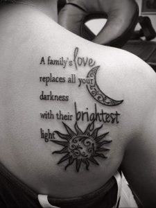 Фото татуировки на лопатке 09.03.2020 №005 -tattoo on the shoulder- tattoo-photo.ru