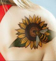 Фото татуировки на лопатке 09.03.2020 №011 -tattoo on the shoulder- tattoo-photo.ru