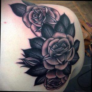 Фото татуировки на лопатке 09.03.2020 №017 -tattoo on the shoulder- tattoo-photo.ru