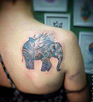 Фото татуировки на лопатке 09.03.2020 №020 -tattoo on the shoulder- tattoo-photo.ru