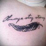 Фото татуировки на лопатке 09.03.2020 №028 -tattoo on the shoulder- tattoo-photo.ru