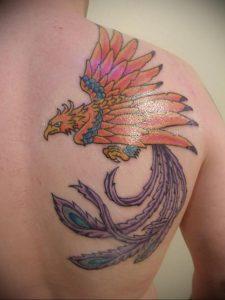 Фото татуировки на лопатке 09.03.2020 №041 -tattoo on the shoulder- tattoo-photo.ru