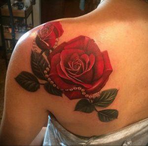 Фото татуировки на лопатке 09.03.2020 №044 -tattoo on the shoulder- tattoo-photo.ru