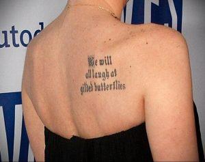 Фото татуировки на лопатке 09.03.2020 №058 -tattoo on the shoulder- tattoo-photo.ru