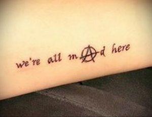 Фото тату анархия на руке 24.03.2020 №004 -tattoo anarchy- tatufoto.com