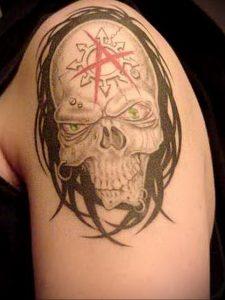 Фото тату анархия на руке 24.03.2020 №005 -tattoo anarchy- tatufoto.com