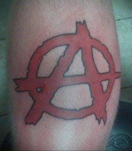 Фото тату анархия на руке 24.03.2020 №021 -tattoo anarchy- tatufoto.com