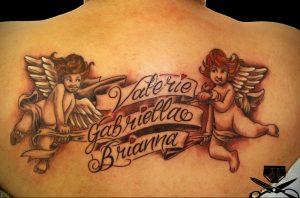 Фото тату ангел на лопатке 09.03.2020 №008 -tattoo on the shoulder- tattoo-photo.ru