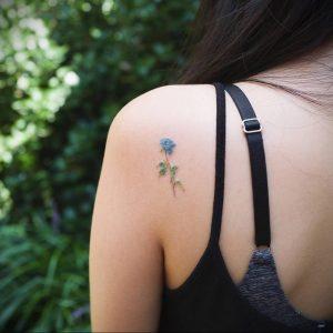 Фото тату на левой лопатке 09.03.2020 №015 -tattoo on the shoulder- tattoo-photo.ru