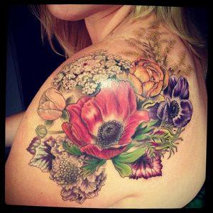 Фото тату на левой лопатке 09.03.2020 №029 -tattoo on the shoulder- tattoo-photo.ru