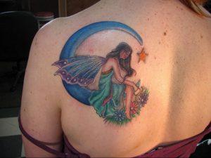 Фото тату на левой лопатке 09.03.2020 №032 -tattoo on the shoulder- tattoo-photo.ru