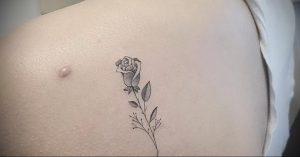 Фото тату на левой лопатке 09.03.2020 №037 -tattoo on the shoulder- tattoo-photo.ru