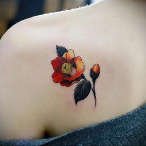 Фото тату на левой лопатке 09.03.2020 №054 -tattoo on the shoulder- tattoo-photo.ru