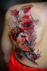 Фото тату на левой лопатке 09.03.2020 №055 -tattoo on the shoulder- tattoo-photo.ru