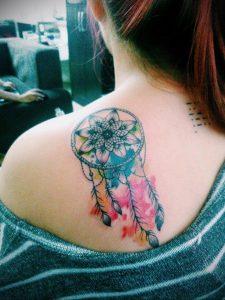 Фото тату на левой лопатке 09.03.2020 №076 -tattoo on the shoulder- tattoo-photo.ru