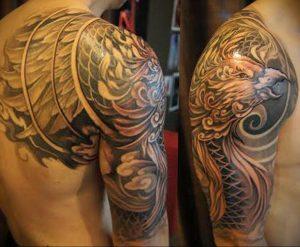 Фото тату на правой лопатке 09.03.2020 №015 -tattoo on the shoulder- tattoo-photo.ru