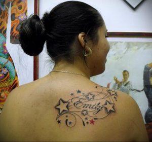 Фото тату на правой лопатке 09.03.2020 №035 -tattoo on the shoulder- tattoo-photo.ru