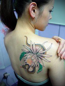 Фото тату на правой лопатке 09.03.2020 №039 -tattoo on the shoulder- tattoo-photo.ru