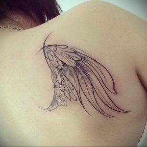 Фото тату на правой лопатке 09.03.2020 №053 -tattoo on the shoulder- tattoo-photo.ru