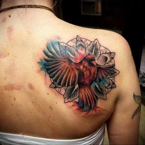 Фото тату на правой лопатке 09.03.2020 №080 -tattoo on the shoulder- tattoo-photo.ru