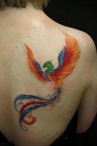 Фото тату с птицей на лопатке 09.03.2020 №014 -tattoo on the shoulder- tattoo-photo.ru