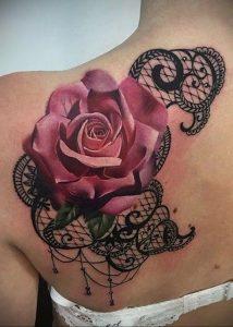 Фото черной тату на лопатке 09.03.2020 №001 -tattoo on the shoulder- tattoo-photo.ru