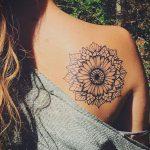 Фото черной тату на лопатке 09.03.2020 №028 -tattoo on the shoulder- tattoo-photo.ru