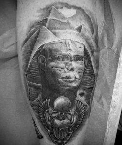 Пример рисунка татуировки Сфинкс 14.12.2020 №001 -sphinx tattoo-tattoo-photo.ru