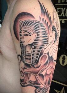 Пример рисунка татуировки Сфинкс 14.12.2020 №002 -sphinx tattoo-tattoo-photo.ru