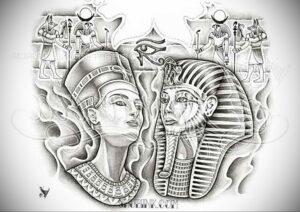 Пример рисунка татуировки Сфинкс 14.12.2020 №003 -sphinx tattoo-tattoo-photo.ru