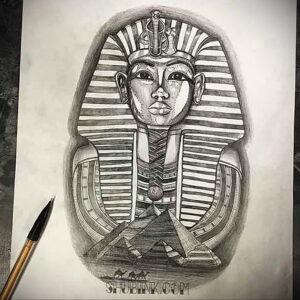 Пример рисунка татуировки Сфинкс 14.12.2020 №007 -sphinx tattoo-tattoo-photo.ru