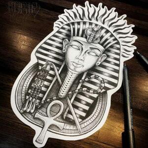 Пример рисунка татуировки Сфинкс 14.12.2020 №011 -sphinx tattoo-tattoo-photo.ru