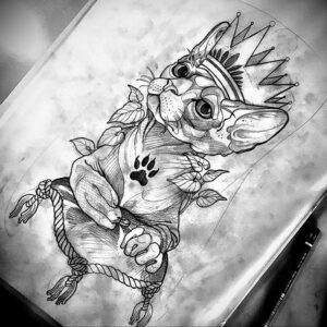 Пример рисунка татуировки Сфинкс 14.12.2020 №020 -sphinx tattoo-tattoo-photo.ru
