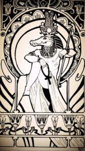 Пример рисунка татуировки Сфинкс 14.12.2020 №024 -sphinx tattoo-tattoo-photo.ru