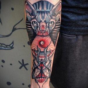 Пример рисунка татуировки Сфинкс 14.12.2020 №025 -sphinx tattoo-tattoo-photo.ru