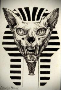 Пример рисунка татуировки Сфинкс 14.12.2020 №029 -sphinx tattoo-tattoo-photo.ru