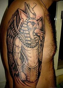 Пример рисунка татуировки Сфинкс 14.12.2020 №034 -sphinx tattoo-tattoo-photo.ru