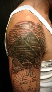 Пример рисунка татуировки Сфинкс 14.12.2020 №043 -sphinx tattoo-tattoo-photo.ru
